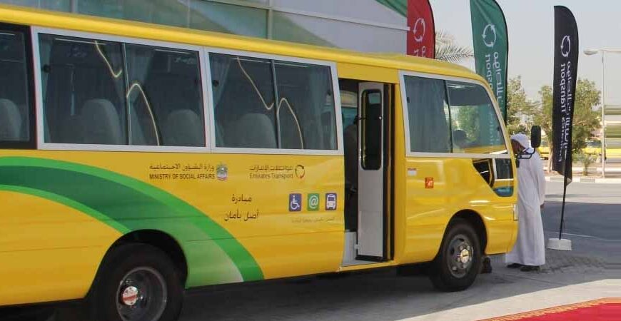 40 buses from the Emirates Transport transporting 550 students with special needs