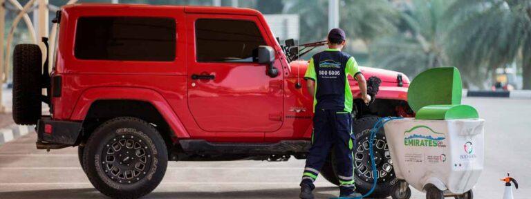 مواصلات الإمارات توفر 47 مليون لتر مياه من خلال الغسل الجاف للمركبات