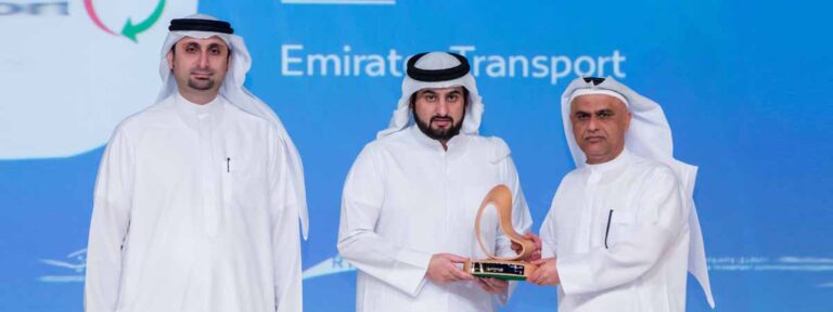 Emirates Transport bags award at the 10th Dubai Award for Sustainable Transport
