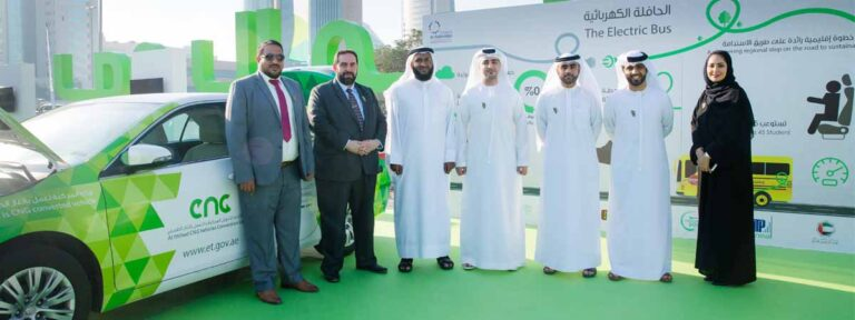 Emirates Transport showcases its electric bus during Car Free Day