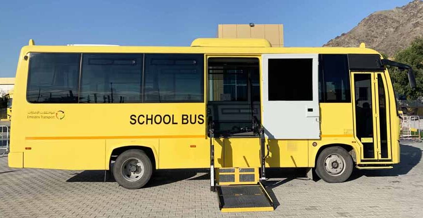 53 buses from Emirates Transport transporting 650 students with special needs